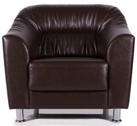 Кресло для отдыха Wright Райт экокожа черная