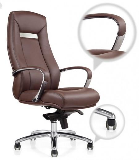 Кресло руководителя Box CH-182 кожа коричневая