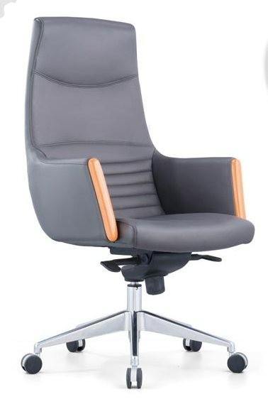 Кресло руководителя Egg CH-6005 кожа серая