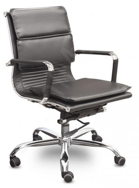 Кресло офисное Veyron (M) CA16168 экокожа черная