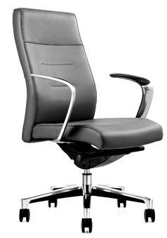 Кресло руководителя One(M) СH-263 кожа черная