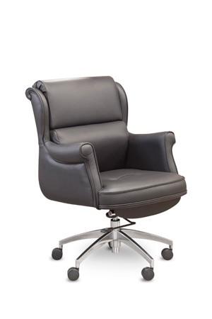 Кресло руководителя Консул_М Consul (M) MY-6016 кожа черная