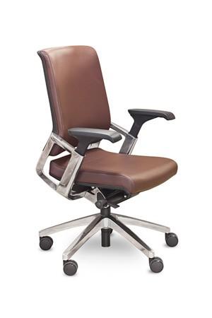 Кресло руководителя Ranger KA-02L кожа черная