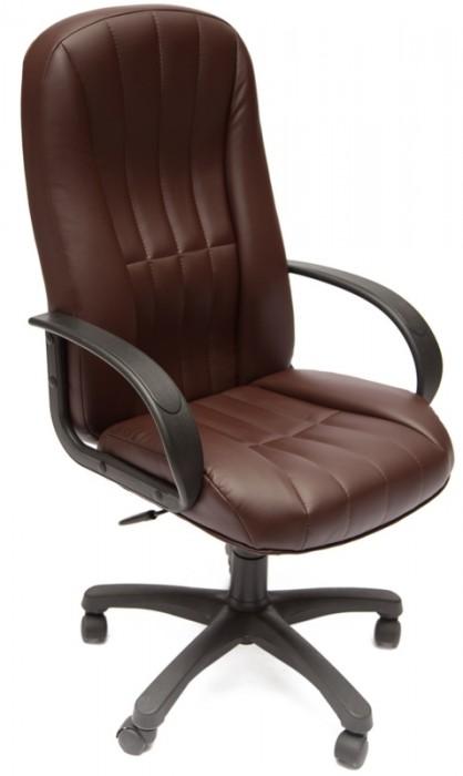 Кресло руководителя CH767 экокожа коричневая