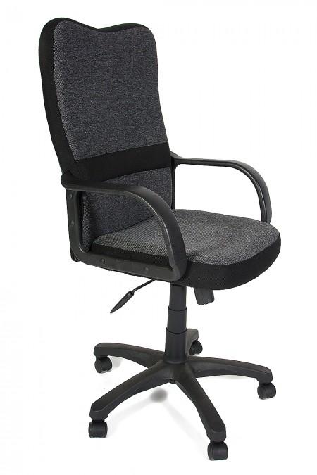 Кресло руководителя CH757, ткань серая, вставки черные