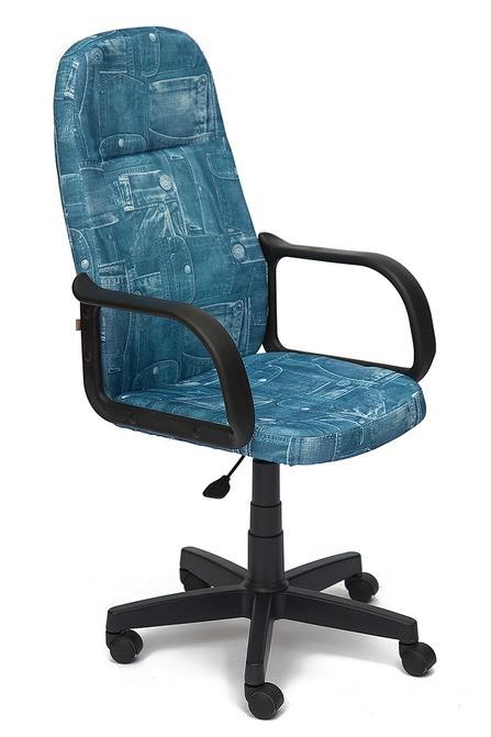 Кресло руководителя LEADER Лидер ткань Джинса
