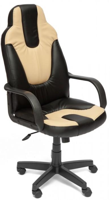 Кресло руководителя NEO1 Нео1 черная экокожа вставки беж