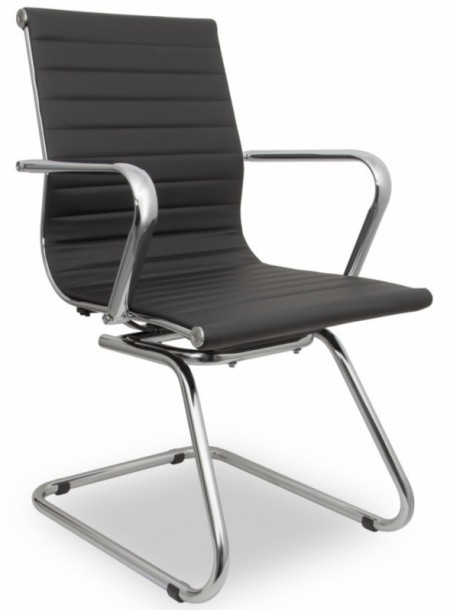 Кресло посетителя College H-916L-3  иск. кожа черная