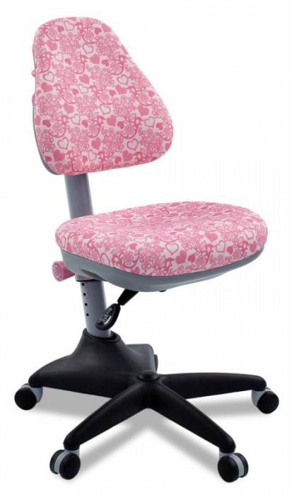 Кресло детское KD-2 ткань розовый сердца