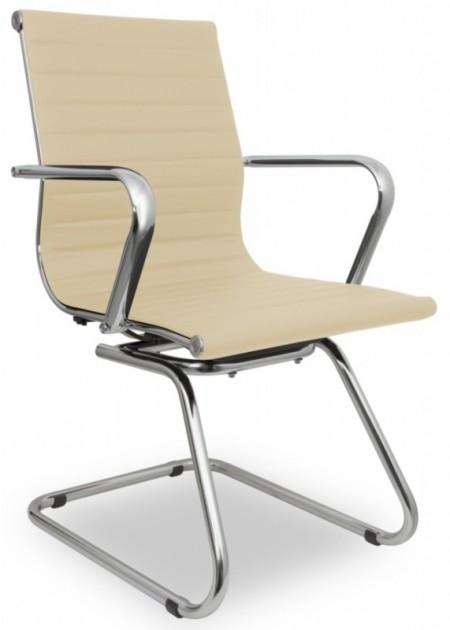Кресло посетителя College H-916L-3  иск. кожа бежевая