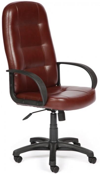 Кресло руководителя DEVON Девон экокожа коричнево-рыжая