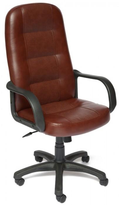 Кресло руководителя DEVON Девон экокожа коричнево-рыжая с перфорацией
