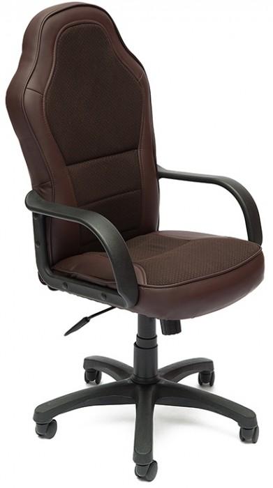 Кресло руководителя KAPPA Каппа экокожа коричневая вставка ткань бежевая