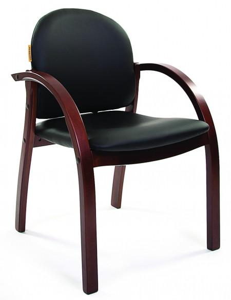 Кресло посетителя Джуно CHAIRMAN 659 экокожа терра черная