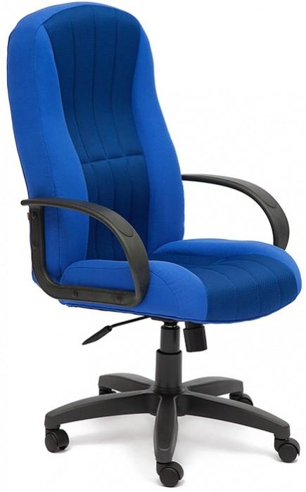 Кресло руководителя CH833, ткань синяя, вставка TW