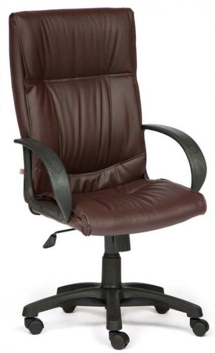 Кресло руководителя DAVOS Давос экокожа коричневый