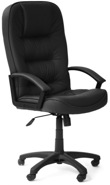 Кресло руководителя CH9944 пластик, кожа черная