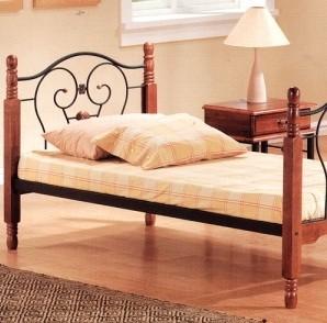 Кровать 608 A одноярусная Single Bed 90*200