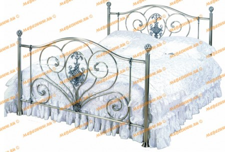 Кровать 9312 Queen Size 160*200 античная медь