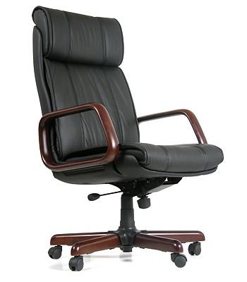 Кресло руководителя CHAIRMAN 419 кожа черная