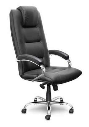 Кресло руководителя C44 Born БОРН кожа черная, хром