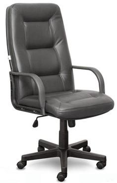 Кресло руководителя IDRA ИДРА кожа черная, пластик
