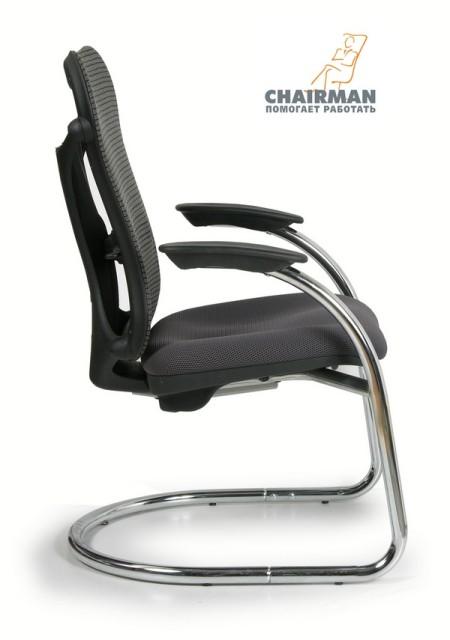Кресло посетителя CHAIRMAN 426 ткань TW-12 серая
