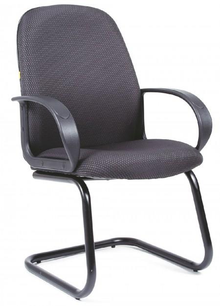 Кресло посетителя CHAIRMAN 279V ткань черно-серая JP-15-1