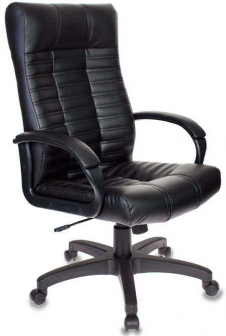 Кресло руководителя KB-10 черная иск. кожа