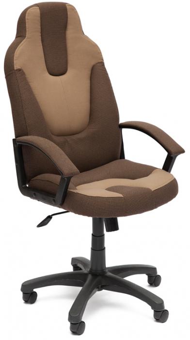 Кресло руководителя NEO3 Нео-3 ткань коричневый, бежевый