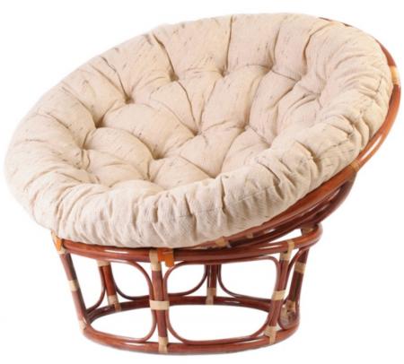 Кресло из ротанга Papasan Папасан цвет коньяк, подушка в комплекте