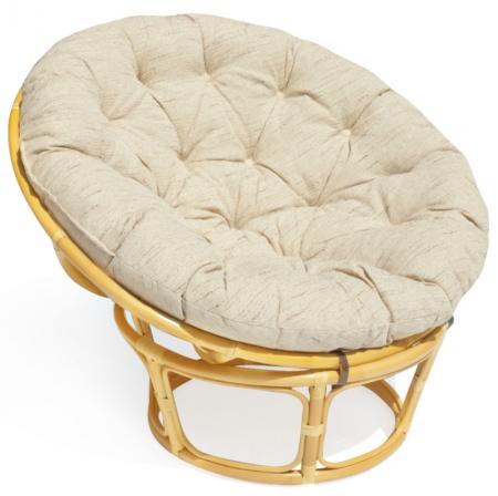 Кресло из ротанга Papasan Папасан цвет мёд + подушка