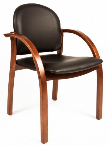 Кресло посетителя РК-5 экокожа Терра черная