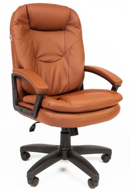 Кресло руководителя РК-168 экокожа коричневая