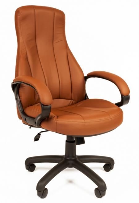 Кресло руководителя РК-190 экокожа коричневая