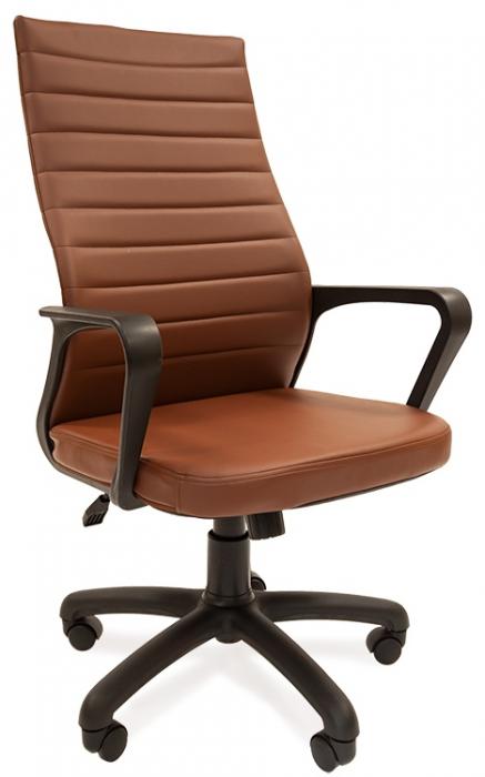 Кресло руководителя РК-165 экокожа коричневая