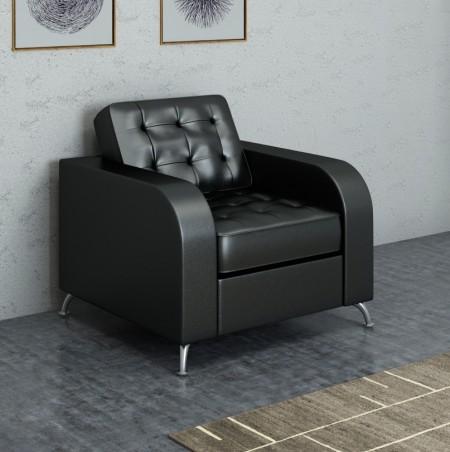 Кресло для отдыха Rolf Рольф экокожа черная